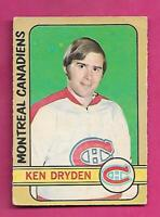 1972-73 OPC # 145 CANADIENS KEN  DRYDEN  2ND YEAR GOOD CARD (INV# C5378)