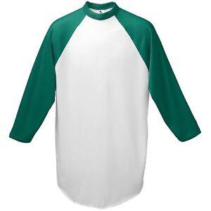Augusta Sportswear Youth Crewneck Raglan Sleeves Baseball Jersey T-Shirt. 421