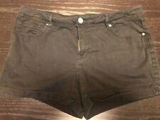 Faded Glory Black Stretch Shorts Women's Size 18