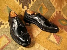 Florsheim Imperial 5 Nail V-Cleat Black Long Wing Tip 11.5 2A