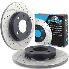 FRONT DRILLED GROOVED 239mm BRAKE DISCS FOR VW GOLF MK1 MK2 MK3 1.6 1.8 1.9 TD