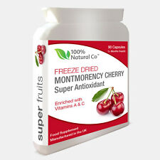 Montmorency Cherry -  90 Capsules - Strongest on eBay 1500mg Daily Dose
