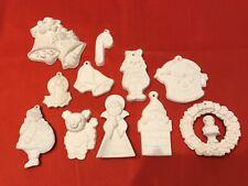 Ceramics Ready To Paint, Santa, Bells, Angel, Wreath, Candy Cane Christmas