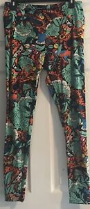 LuLaRoe Womens TC Tall and Curvy Leggings Floral Multicolor Whimsical