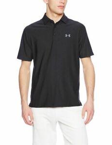 Under Armour 1253479 Men's UA Playoff UPF 30 Black Golf Polo Shirt Size Medium
