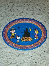 Peanuts Snoopy lucy  charlie brown Halloween melmac  tray platter nwt