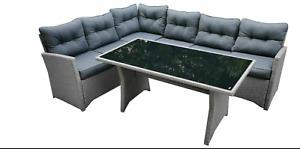 EVRE Milan Rattan Garden Furniture Set Patio Conservatory Indoor Outdoor Garden