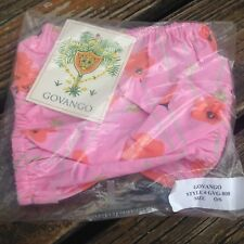Govango Floral Bloomer Bottoms Baby Girl One Size Pink Orange Green Poppy New