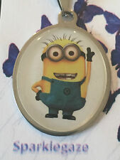 """BRAND NEW DESPICABLE ME """"MINION"""" DAVE MINION STAINLESS STEEL NECKLACE (15)"""