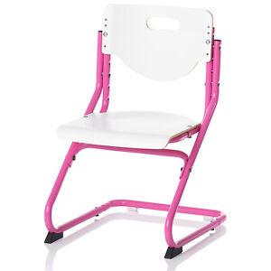 Kettler Kinder-Schreibtischstuhl Chair Plus, verstellbar, ohne Rollen, weiß-pink