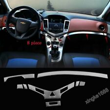 Fit Chevrolet Cruze 2009-2014 Stainless Interior Middle Console Cover Trim 8Pcs