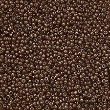 Miyuki Round Seed Beads Size 11/0 (2mm) Dark Bronze 24g (N19/5)