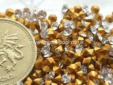 48 X Preciosa 11ss / 23pp Cristal diamanté gold-foiled chatons