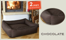 BedDog XL Chocolate - Washable, Waterproof, Scratch Proof, Memory Foam Effect