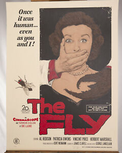 Timothy Pittides The Fly Movie  #19/125 Print Mondo BNG Bottleneck Signed