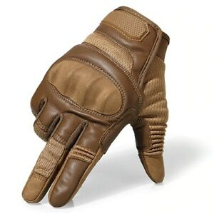 Touchscreen Leather Motorcycle Full Finger Gloves Racing Biker Riding Motocross