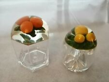 More details for italian perspex marmalade pots x 2 oranges and lemons vintage good condition