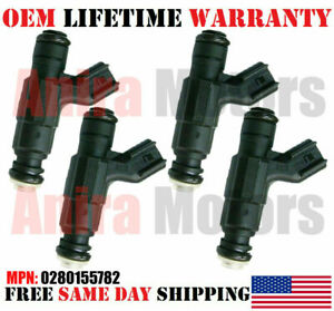 OEM x4 Bosch Fuel Injectors for 1998-00 Chrysler Dodge Plymouth 2.0L #0280155782