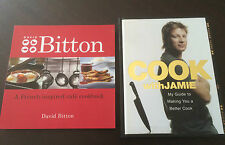"""""""David Bitton"""" French Inspired Cafe Cookbook & """"Cook With Jamie"""" (Oliver)**VGC**"""