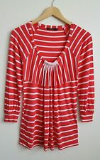 REISS WOMEN'S RED NAUTICAL TOP SIZE S MAY FIT A 8-10 UK