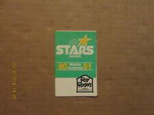 CHL OKC Stars Vintage Defunct Circa 80-81 Hockey Pocket Schedule