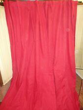 IKEA (PAIR) RIVTA TRUE RED HIDDEN TAB TOP DRAPERY PANELS  56 X 98