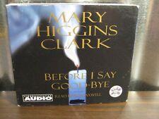 Before I Say Goodbye Mary Higgins Clark 4 CD Abridged Audiobook Audio Book