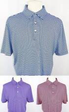 New Men's Cutter & Buck DryTec Short Sleeve 4 Color Stripe Polo Shirt L 3 Avail