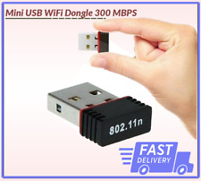 New Mini USB WiFi Dongle 300 MBPS 802.11 B/G/N Wireless Adapter 4 Laptop/PC UK