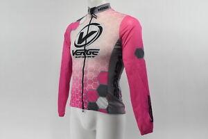 Verge Women's Classic Light Wind Jacket Pink/White S NOS