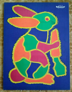 Circa 1950s Children's Puzzle, Rabbit with Carrot, Tekwood, A.M. Walzer Company