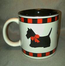 Department 56 Scottie Dog Scottish Terrier Coffee Tea Mug Cup Checker Pattern