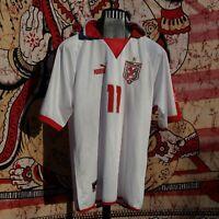 NAZIONALE TUNISIA PUMA 11 MATCH WORN DOS SANTOS 2004 JERSEY SOCCER VINTAGE
