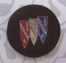 1963 Buick Riviera Tri-Shield Hood Emblem. OEM #1360069. HE63