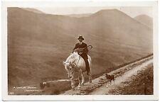 P.C A Lakeland Shepherd on Horseback Cumbria P U 1927 R P Pub Abraham Good Cond