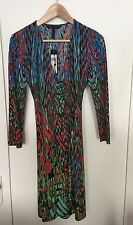 "BCBGMAXAZRIA Multi-Colored ""Adele"" Print Wrap Party Dress Sz S NEW WITH TAGS"
