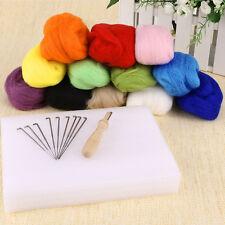 Needle Felting Starter Kit Set 120G Wool Needles Felt Mat Tool Toy for kid