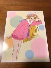 Vintage Sailor Moon R Venus Big Card Pink Outfit Rare No. 89 Japanese Anime