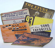 Vintage Music Book & Magazine Lot of 5 Rare John Williams Boogie Woogie World