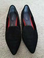 Womens 6 Rockport Pointy Tip Slip On Black Adiprene Shoes