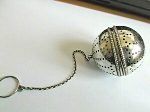 Antique Solid Silver Rare Ball Tea Infuser C1920