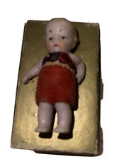 Vintage Early Antique Bisque Frozen Charlotte Jointed Doll Clothed
