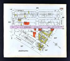 1929 Brooklyn Map Sheapshead Bay Gerritsen Whitney Avenues V-X New York City