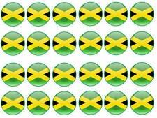 24 Jamaica Jamaica Bandera Cumpleaños Bollo Hada Cupcake Toppers Partido Bolsa Comestibles