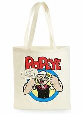FUNNY POPEYE THE SAILOR MAN POSTER SHOPPING CANVAS TOTE BAG IDEAL GIFT PRESENT