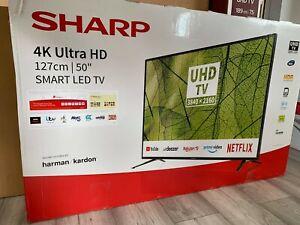 "Sharp 50"" Inch Smart 4K Ultra HD LED TV  - Freeview Play - Netflix"