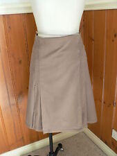 LADIES COUNTRY ROAD SIZE 8 LIGHT BROWN WRAP PLEATS SKIRT PRESS STUDS