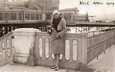 BD661 Carte Photo vintage card RPPC Femme woman Nice 1929 mode fashion