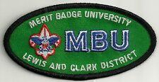 BSA LEWIS AND CLARK District MBU Merit Badge University Patch D10