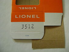 Lionel 3512 Fire and Ladder Co. Car Licensed Reproduction Window Box